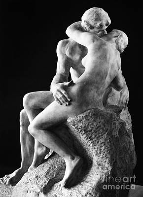 1886 Photograph - Rodin: The Kiss, 1886 by Granger