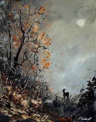 Roe Deer At Moonshine  Original by Pol Ledent
