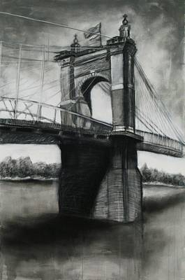 Roebling Bridge Print by Alison Shepard