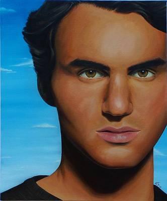 Roger Federer Painting - Roger Federer by Kim Nelson