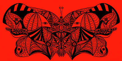 Roger The Butterfly Print by Kenal Louis