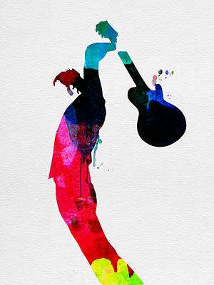 Multicolored Digital Art - Roger Watercolor by Naxart Studio
