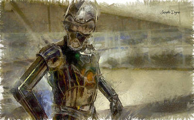 Ra Painting - Rogue One 3b6-7 Threebee - Pa by Leonardo Digenio