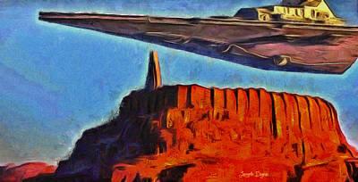 Space Digital Art - Rogue One Over The Citadel - Da by Leonardo Digenio