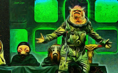Obama Digital Art - Rogue One Space Monkey - Da by Leonardo Digenio