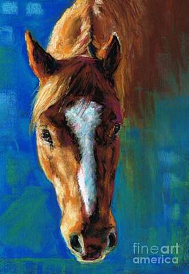 Horse Drawing Painting - Rojo by Frances Marino