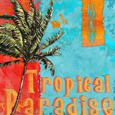 Palmettos Painting - Rojo Palm I by Paul Brent