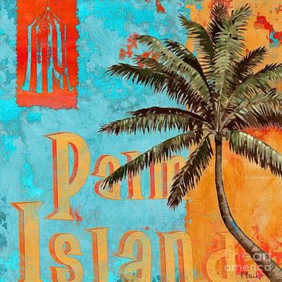 Palmettos Painting - Rojo Palm II by Paul Brent