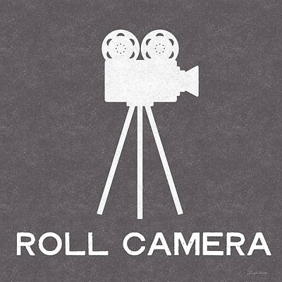 Roll Camera- Art By Linda Woods Print by Linda Woods