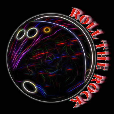 Roll The Rock Print by Kelley King