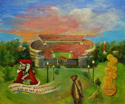 Bama Painting - Roll Tide by Ann Bailey