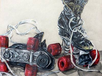 Roller Skates Print by Camellia Jiles