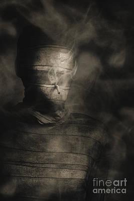 Rollie The Smoking Mummy Print by Jorgo Photography - Wall Art Gallery
