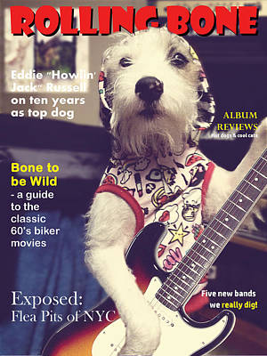 Music Digital Art - Rolling Bone Magazine by Richard Reeve