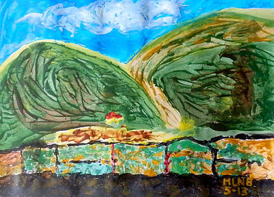 Rolling Hills Of South Reward Print by Margaret Brooks