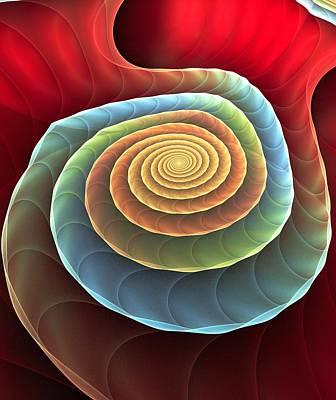 Rolling Spiral Print by Anastasiya Malakhova