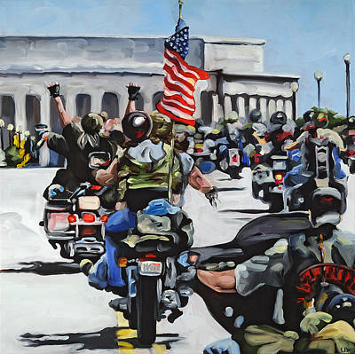 Lincoln Memorial Painting - Rolling Thunder by Anne Lewis