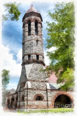 Brick Schools Painting - Rollins Chapel Dartmouth College by Edward Fielding