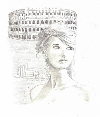 Taylor Swift Drawing - Roman Beauty-taylor Swift by M Valeriano