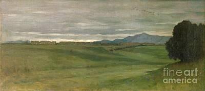Field. Cloud Painting - Roman Landscape by Antoine Auguste Ernest Hebert