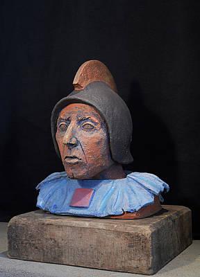 Roman Warrior Roemer - Roemer Nettersheim Eifel - Military Of Ancient Rome - Bust - Romeinen Print by Urft Valley Art