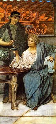Roman Wine Taster 1861 Print by Padre Art
