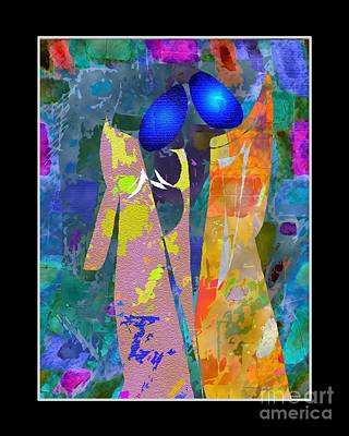 Women Together Mixed Media - Romance by Mimo Krouzian