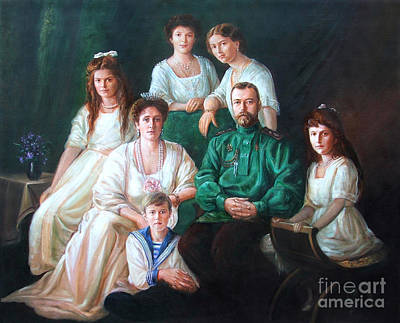 Romanov Family Portrait Print by George Alexander