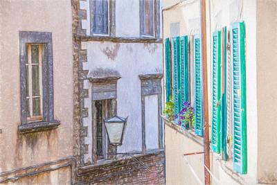 Tuscany Drawing - Romantic Cortona by David Letts