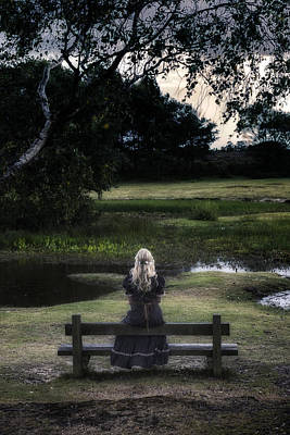 Thoughtful Photograph - Romantic Evening At The Pond by Joana Kruse