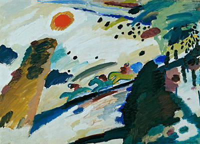 Romantic Landscape Print by Wassily Kandinsky