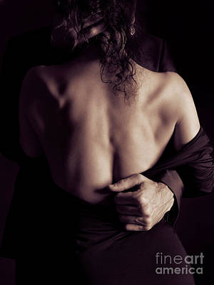 Erotic Photograph - Romantic Sensual Portrait Of Man And Woman Embracing by Awen Fine Art Prints