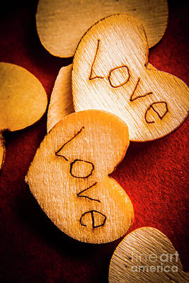Romantic Wooden Hearts Print by Jorgo Photography - Wall Art Gallery
