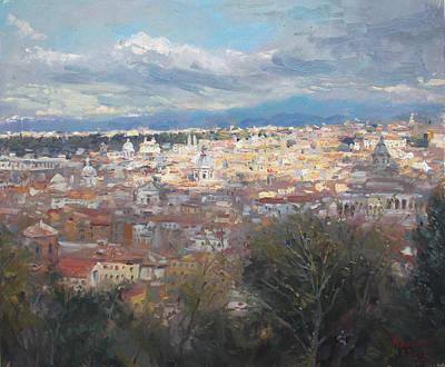 Panoramic Painting - Rome Da Giannicolo - 2016 by Ylli Haruni