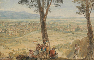 Italian Landscapes Painting - Rome From Monte Mario  by Joseph Mallord William Turner