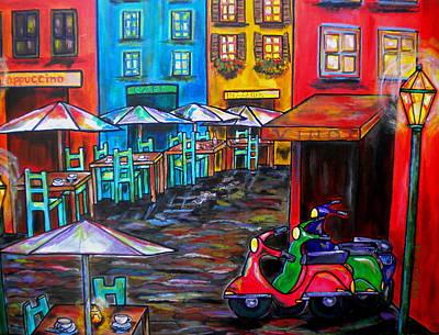 Umbrella Painting - Rome In Twilight by Patti Schermerhorn