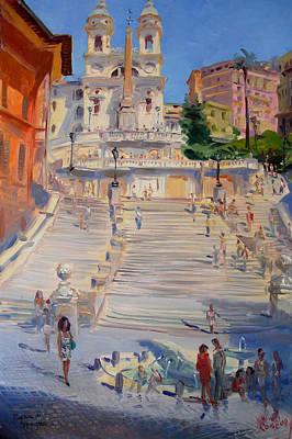 Rome Piazza Di Spagna Print by Ylli Haruni