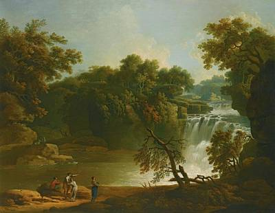 Forest Painting - Rome The Falls Of The Clyde by Jacob More