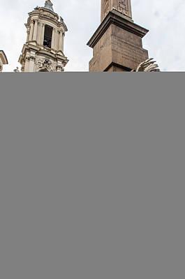 Rome - The Fountain Of Piazza Navona Print by Andrea Mazzocchetti