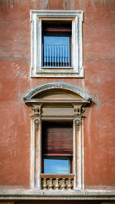 Rome Photograph - Rome Windows And Balcony by Joan Carroll