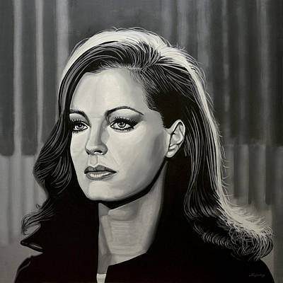 Woody Painting - Romy Schneider by Paul Meijering