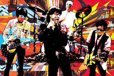 Ron Mick Charlie Keith Print by Kevin Newton
