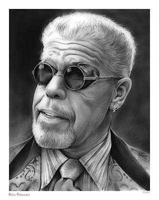Ron Perlman Print by Greg Joens