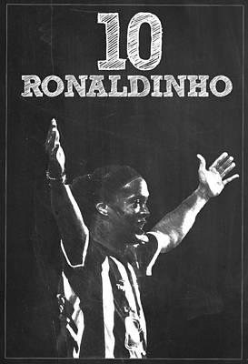 Ronaldinho Print by Semih Yurdabak
