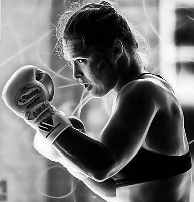 Ronda Rousey Fighter Print by Marvin Blaine