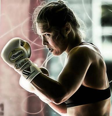 Champion Mixed Media - Ronda Rousey Mma by Marvin Blaine