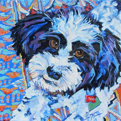 Havanese Painting - Roo by Sarah Gayle Carter