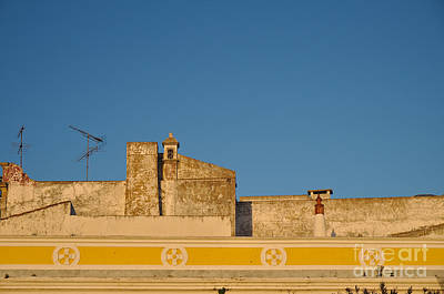 House Photograph - Rooftop In Faro During Sunset. Portugal by Angelo DeVal