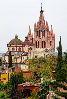 Rights Managed Images Photograph - Rooftop View Of La Parroquia De San Miguel Arcangel by Rob Huntley