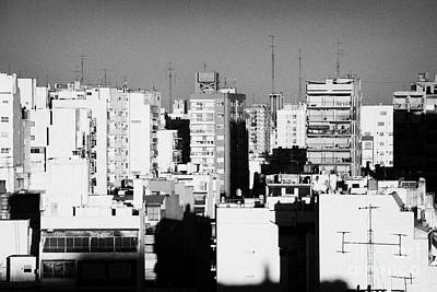 Rooftops And Apartment Blocks In The Evening Buenos Aires Skyline Argentina Print by Joe Fox